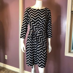 Ann Taylor Petite Chevron Print Knit Dress